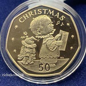 [1989 GIB Xmas]1x Gibraltar Christmas 50p Diamond Finish Coin BB UNC