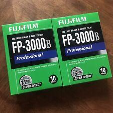 Fujifilm Fp-3000B Professional B&W Instant Film Two Packs (20 Shots) Stored Cold