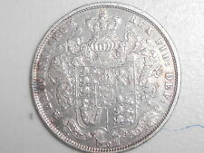1825 English Silver Half-Crown half Crown coin George IV SCARCE DATE NEAR EF