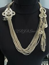 NWT CHANEL 2016 $3325 PEARL CRYSTAL INTERLACED CC LONG NECKLACE Multi-Strand 16P