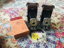 2 Vintage Polaroid Model 95 Folding Bellows Film Land Camera not tested As Is