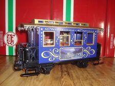LGB 72305 BLUE & GOLD CHRISTMAS TRAIN PASSENGER CAR BRAND NEW NO BOX!