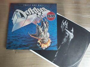 classic DOKKEN Tooth and Nail 1984 Vinyl WE 361. Lyrics Inner. Elektra.