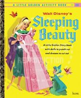 VINTAGE REPRINT - 1957/59 - SLEEPING BEAUTY LITTLE GOLDEN ACTIVITY PAPER DOLLS