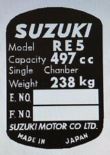 SUZUKI RE5 ROTARY WANKEL HEADSTOCK FRAME RESTORATION DECAL
