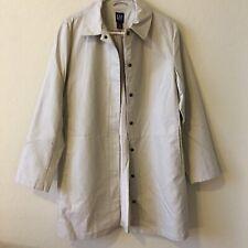 GAP Khaki Classic Cotton Trench Coat Jacket Rain Coat Medium Tan Zip And Snap