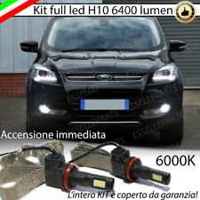 KIT FULL LED FORD KUGA MK2 LAMPADE H10 FENDINEBBIA CANBUS 6400L 6000K NO ERROR