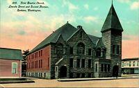 Vtg Postcard 1910s Spokane Washington WA First Baptist Church UNP Unused