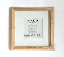 IKEA FINSJO Wall Hanging Frame Natural Wood 9 by 9 with Matte - NEW