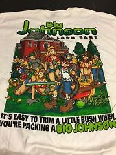 Big Johnson Lawn Care Vintage T-Shirt New  Large Landscaping  Funny T-Shirt