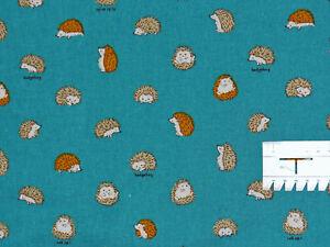16,73€/m² => 25cmx110cm Kleine IGEL Hedgehog Schrift Japan 20% Leinen / 80% BW