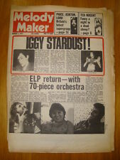 MELODY MAKER 1977 MAR 5 DAVID BOWIE IGGY POP ELP NUGENT