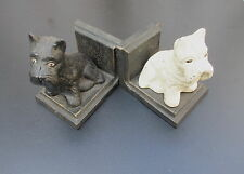 book ends ART DECO Cast Iron english Scotch -a. Westhighland  Terrier Authentic