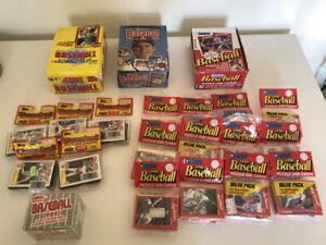 DonRuss Score Boxes 1988,89, 90 Baseball Trading Cards Sealed Wax Packs & Cello