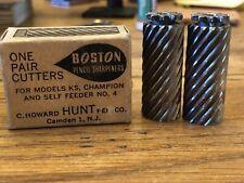 Vintage Boston Pencil Sharpener Model KS One Pair Cutters C Howard Hunt Pen Co