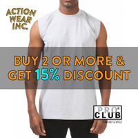 PROCLUB  PRO CLUB MEN'S COMFORT TANK TOP CASUAL SLEEVELESS ACTIVE MUSCLE TEE GYM