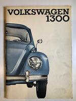 Vintage VW Volkswagen 1300 Instruction Owners Manual Sedan Convertible 1965