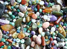 6 oz LOT Mix Semi Precious Gemstone Beads Amazonite Chrysocolla Agate Jasper