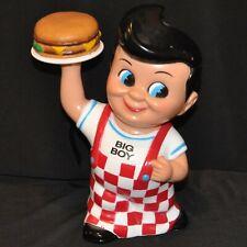 "Vintage Bobs Big Boy Bank Holding Plate With Hamburger Elias Brothers 8"" Funko"