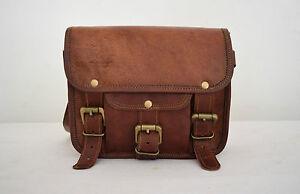 New Men Genuine Leather Cowhide Brown Cross body Shoulder Satchel Messenger Bags