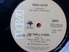 RENEE GEYER-THE THRILL IS GONE.7'' SINGLE