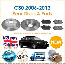 For Volvo C30 2006-2012 Two Rear Solid 280MM Brake Discs & Brake Pads Set New