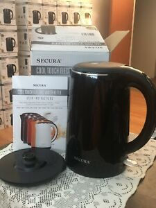 SECURA 1.8 Liter Electric Water Kettle - Black