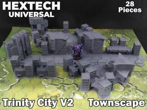 HEXTECH - Trinity City Townscape - Epic 40k - Battletech - Scenery - 6mm - AT
