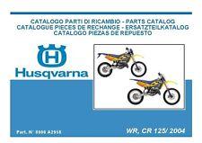 Husqvarna Parts Manual Book 2004 WR 125 & CR 125