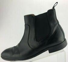 Hugo Boss Chelsea Ankle Boots Elastic Black Comfort Leather Dress Shoes Mens 9.5