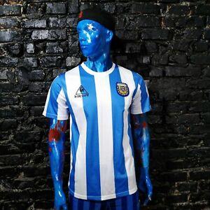 Maradona Argentina Jersey Retro Replicas shirt 1986 Le Coq Sportif Mens Size M