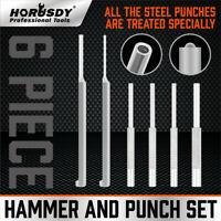 "6PC Roll Pin Starter & Bolt Catch Install Punch Set 1/16"" 5/64"" 3/32"" 1/8"" 5/32"""