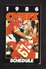 Kansas City Chiefs--Gary Spani--Art Still--1986 Pocket Schedule--Frito Lay