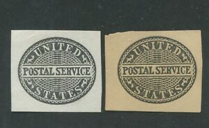 1887 United States Postal Stationary #UO14-UO15 Mint Cut Square