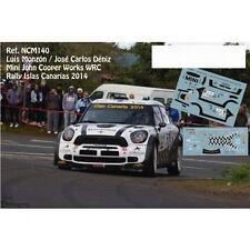 DECALS 1/43 MINI COOPER WORKS WRC -#103 MONZON -RALLYE CANARIES 2014 - NCM140