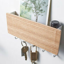 Wood Wall Hanging Shelf Key Rack Sundries Storage Organizer Box Decorative. v