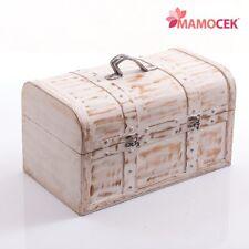 BAULE bauletto scatola legno bianco naturale 36x21 contenitore confezioni Shabby