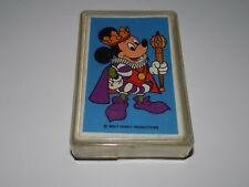 Vintage King Mickey Mouse Playing Cards Deck Plastic Case