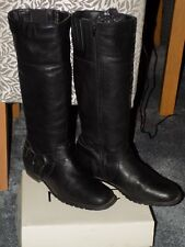 NEXT Leather Long Knee High Boots Size 8, 42