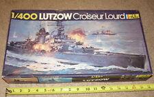RARE VINTAGE Heller 1/400 LUTZOW German WW2 Pocket Battleship