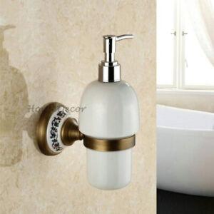 Antique Bathroom Shampoo Ceramic Bottle Bath Liquid Hand Soap Lotion Dispenser