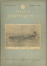 Rivista Aeronautica Dicembre 1942  WWII - Militaria - Spitfire - Idrovolanti