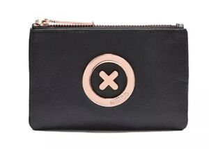 MIMCO Black Small Pouch Leather Supernatural Wallet Purse Clutch BNWT RRP$69.95