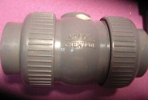 """Chemtrol  part # 21557009, PVC Ball Check Valve, 1"""" Threaded connections"""