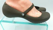 Crocs  Work Mary Jane Slip On Comfort Shoe Womens Size 8 Brown   1009