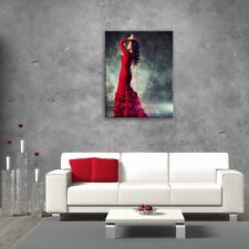 Wall Art Glass Print Picture Unique Decor Flamenco Dance Red (cm) 60x80 SALE