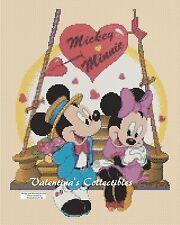 Cross Stitch MICKEY & MINNIE'S Valentine - COMPLETE KIT #10-18 (Large Print)