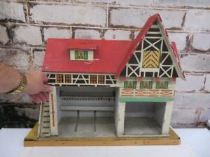 really old doll DOLLS house HORSE STABLE