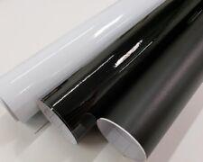 Gloss Matte Black White 12 Inch Wide Vinyl Car Wrap Film Decal Sticker Roll