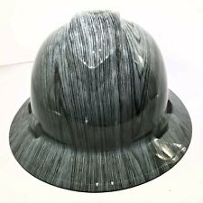 Hard Hat custom hydro dipped , Osha approved Full Brim, Driftwood Woodgrain New